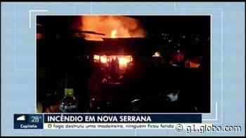 Incêndio é registrado em madeireira no Centro de Nova Serrana - G1