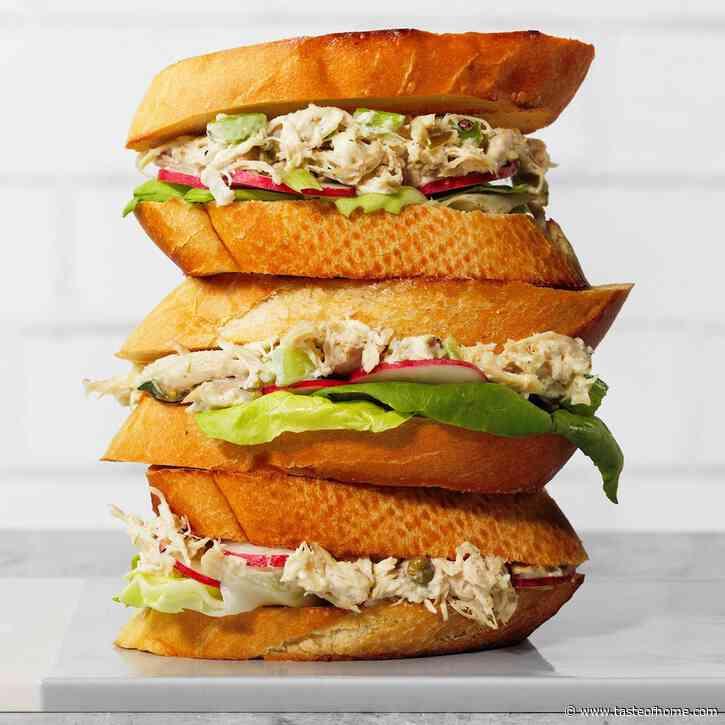 Toasted Chicken Salad Sandwiches