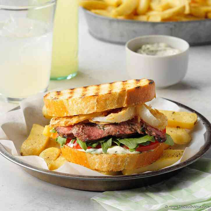 Steak Sandwiches with Crispy Onions