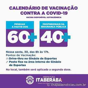 Itaberaba divulga cronograma de vacinação contra covid 19 para sexta-feira(30) - chapada notícias
