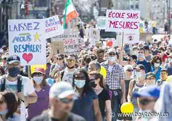 Quebec redirects COVID vaccinations from Olympic Stadium because of weekend protest