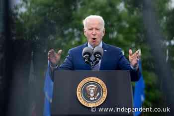 Biden touts Stacey Abrams as a future presidential candidate in a speech in Georgia