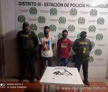 Caen alias 'Viña' y 'Poquitico' con armas de fuego en Magangué - El Universal - Colombia