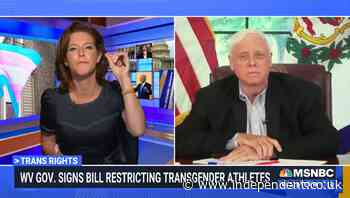 MSNBC host hammers West Virginia governor over ban of transgender athletes in female sports