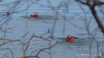 Video shows emergency responders pulling man from Glenmore Reservoir