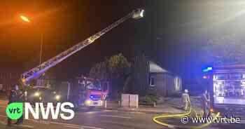 Hevige brand in Diepenbeek: hond kan zelf ontsnappen - VRT NWS