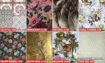 As Boris Johnson bemoans Carrie Symonds' 'golden' wallpaper, here are some deluxe designs for £1,5k