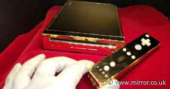 Gold Nintendo Wii console 'made for the Queen' selling on eBay for £214,000