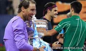 Rafael Nadal has message for Novak Djokovic and Roger Federer after winning Barcelona Open - Express