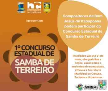 Compositores de Bom Jesus do Itabapoana podem participar do Concurso Estadual de Samba de Terreiro - Defesa - Agência de Notícias
