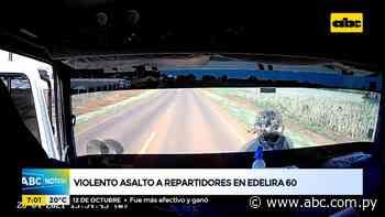 Violento asalto a repartidores en Edelira 60 - ABC Noticias - ABC Color