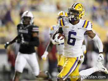 Panthers trade back twice, select LSU wide receiver Marshall