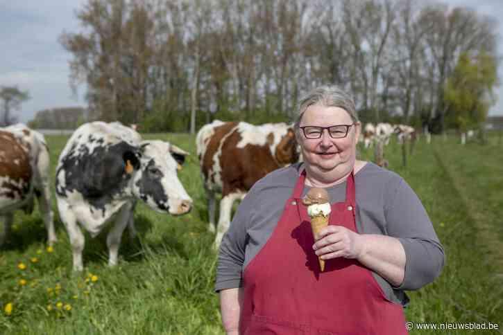 """Christel maakt ijs met melk van eigen koeien: """"Eén koe zorgt op een dag voor 80 liter ijs"""""""