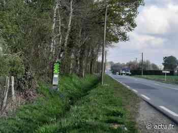 Entre Flers et Domfront, le radar automatique tagué à la peinture verte - L'Orne Combattante