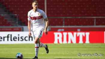 Waldemar Anton vor VfB Stuttgart-FC Augsburg 2021 - VfB Stuttgart