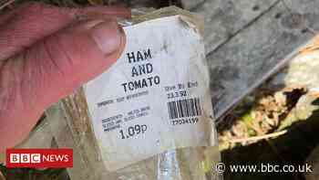 Sandwich wrapper from 1992 found as litter in Cairngorms