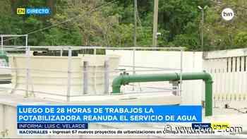 Potabilizadora de Chilibre reanuda tras 28 horas de trabajos - TVN Panamá
