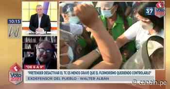 Walter Albán: Pretender desactivar el TC es menos grave que el fujimorismo queriendo controlarlo - Canal N
