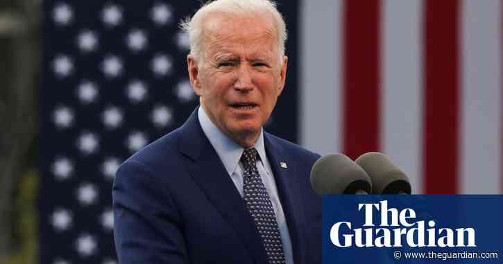 Joe Biden's 100 days in office rally interrupted by protesters – video