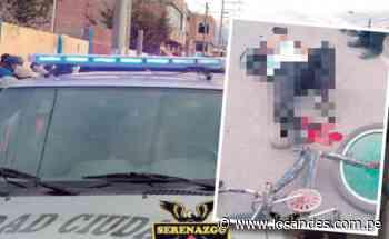 Ciclista está muy grave tras choque con camión en Desaguadero - Los Andes Perú