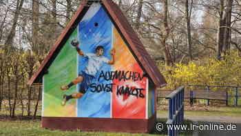 Sachbeschädigung in Elbe-Elster: Nazi-Schmierereien im Kurpark Bad Liebenwerda - Lausitzer Rundschau