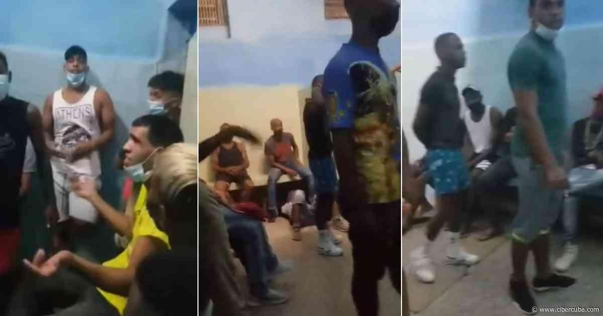Jóvenes cubanos hacinados en un calabozo en plena pandemia - CiberCuba