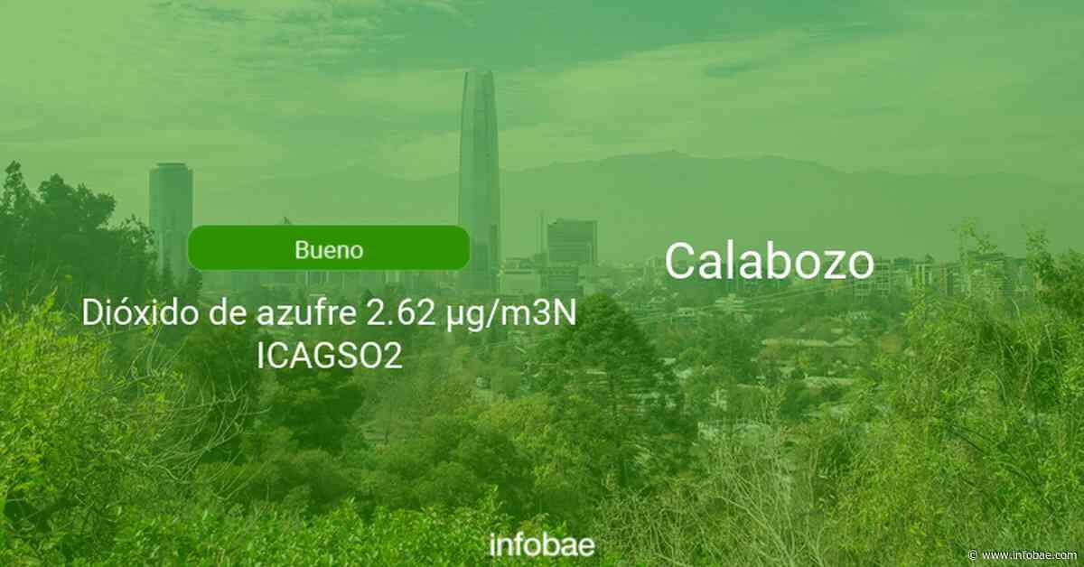 Calidad del aire en Calabozo de hoy 30 de abril de 2021 - Condición del aire ICAP - infobae