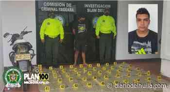 Siguiente Capturado en Yaguará con 25 kilos de marihuana - Diario del Huila