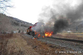 No injuries in fiery train and semi crash   Elk Valley, Sparwood - E-Know.ca