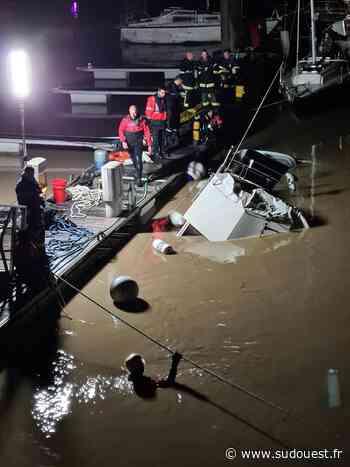 Gironde : une vedette de 11 mètres coule dans le port de Pauillac, le drame évité - Sud Ouest