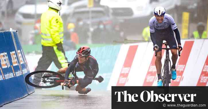 Geraint Thomas denied by freak crash at stage finish in Tour de Romandie