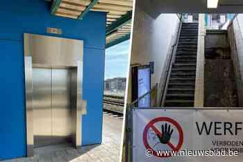 Station Dampoort heeft een nieuwe lift, en ook de vernieuwde roltrap is bijna klaar