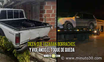Fotos: En Montebello denuncian que funcionarios chocaron contra un carro y huyeron - Minuto30.com