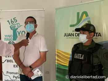 Alcaldía de Juan de Acosta y Gaula de la Policía, intensifican campaña de prevención contra la extorsión y el secuestro - Diario La Libertad