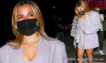 Addison Rae looks fabulous while arriving at Charli D'Amelio's birthday blowout in West Hollywood