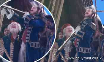 Jude Law is back in action as Captain Hook as he films scenes for Disney's Peter Pan And Wendy - Daily Mail
