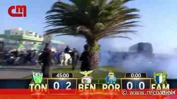 Mais imagens do protesto dos adeptos do FC Porto, com polícia a cavalo presente - Record