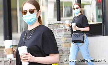Emma Stone grabs a coffee in LA as she's pictured for the first time since welcoming a baby girl