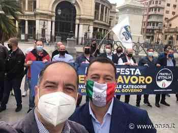 Covid:FdI protesta in piazza a Palermo contro misure governo - Agenzia ANSA