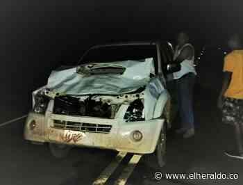 Concejal de Albania sufre accidente tras chocar contra un semoviente - EL HERALDO