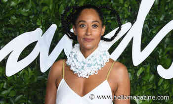 Tracee Ellis Ross' bedroom has a bed fit for a queen
