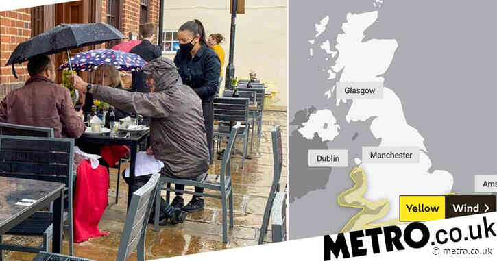 Weather warnings issued as wind and rain to batter UK on Bank Holiday
