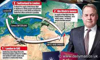 Ex-Etihad boss swapped passport and tried to avoid 10 days in UK quarantine