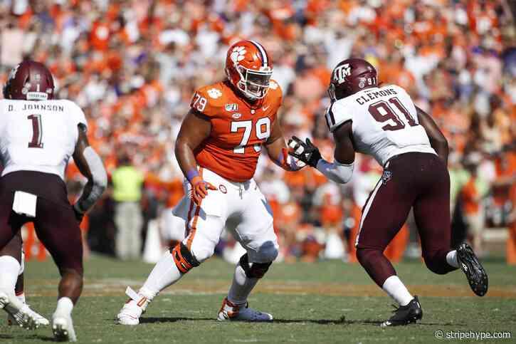 Bengals reached to draft Clemson OT Jackson Carman per Mel Kiper Jr. - Stripe Hype