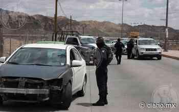 Montan estatales retén en calles de Rancho Anapra - El Diario