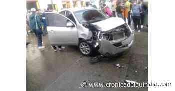 Accidente de tránsito en Filandia dejó un lesionado - La Cronica del Quindio