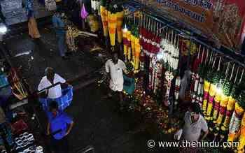 Coronavirus   Curbs on poll victory celebrations turn big spoiler for flower traders - The Hindu