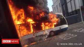 Firefighters called to dramatic bus fire in Dunfermline