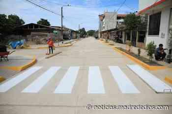 Puerto Maldonado: Inicia pavimentación de calles de los AA. HH. Miraflores y Señor de los Milagros - Radio Madre de Dios