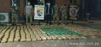 Incautan más de 300 kilos de marihuana en Salto del Guairá - Nacionales - ABC Color